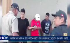 Trujillo: Intervienen a sospechosos en urbanización Santa Ines
