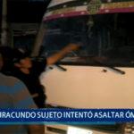 Piura: Iracundo sujeto intentó asaltar un bus