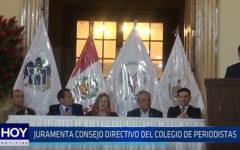 Trujillo: Juramenta consejo directivo del colegio de periodistas