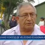 Trujillo: Lluvias y exceso de velocidad ocasionan accidente