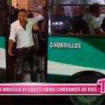 Nacional: Jonathan Maicelo se lució como cobrador de bus