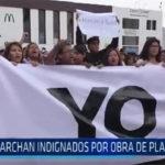 Trujillo: Marchan indignados por obra de Plaza Mayor