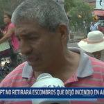 Trujillo: MPT no retirará escombros que dejó incendio en albarracín
