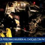 Piura: Dos personas mueren al chocar con patrullero