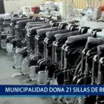 Piura: Municipalidad dona 21 sillas de ruedas