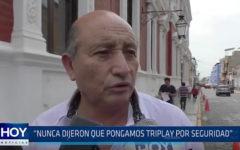 Trujillo: Nunca dijeron que pongamos triplay por seguridad