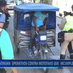 Piura: Continúan  operativos contra mototaxis que  incumplen Anillo Vial