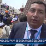 Huanchaco: Misa del Papa se desarrolló según lo planeado