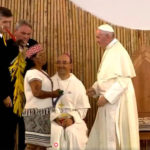 El papa se reune con comunidades nativas de Puerto Maldonado