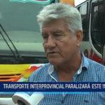 Trujillo: Transporte interprovincial paralizará este 11 de enero