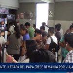 Chiclayo: Ante la llegada del papa crece demanda  por viajar a Trujillo