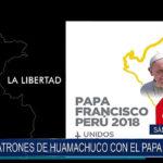 Patrones de Huamachuco con el Papa Francisco