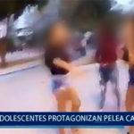 Piura: Adolescentes protagonizan pelea callejera