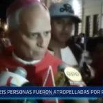 Chiclayo: Seis personas fueron atropellados por patrullero