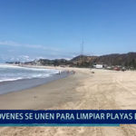 Piura: Jóvenes  se  unen para limpiar  playas  de Paita