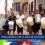 Chiclayo: Pobladores con 15 días de escasez de agua