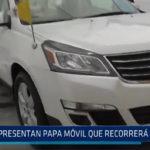 Presentan Papa móvil que recorrera Trujillo