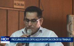 Piura: Procurador no explica al pleno el trabajo avanzado en su área