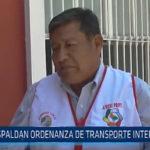 Trujillo: Respaldan ordenanza de transporte interprovincial