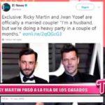 Internacional: Ricky Martin pasó a la fila de los casados