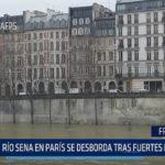 Francia: Río Sena en París se desborda tras fuertes lluvias