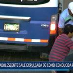 Moche: Adolescente sale expulsada de combi conducida por su padre
