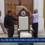 Trujillo: El sillón del Papa para encuentro con el clero