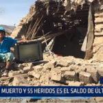 Arequipa: Un muerto y 55 heridos es el saldo de último sismo
