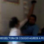 Piura: Subdirectora de colegio agrede a periodista