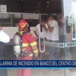 Chiclayo: Alarma de incendio en banco del centro de Chiclayo