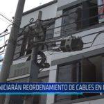 Chiclayo: Iniciaran reordenamiento de cables en Chiclayo