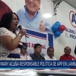 Chiclayo: Mary acuña responsable política de APP en Lambayeque