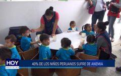 Chiclayo: 40% de niños peruanos sufre de anemia
