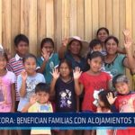 Chiclayo: Pacora: Benefician a familias con alojamientos temporales