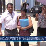 Chiclayo: Policía que protesto en Tuman aún no regresa a trabajar
