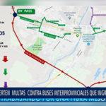 Piura: Advierten multas  contra buses interprovinciales que ingresen al centro