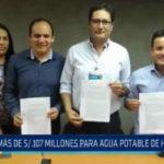 Más de 107 millones de soles para agua potable en Huamachuco