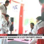Alumnos de taekwondo de la UCV con fuerte jornada