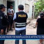 Chiclayo: Anciano muere por manipulación de artefactos pirotécnicos