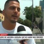Arquero de Andorra asegura que no habrá más errores
