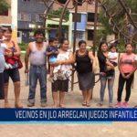 Chiclayo: Vecinos de JLO arreglan juegos infantiles