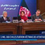 Afganistán: Más de 2 mil 300 civiles víctimas de atentados en el 2017