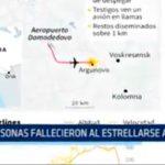Rusia: 71 personas fallecieron al estrellarse avión