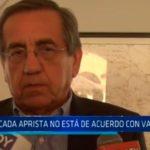Trujillo: Bancada aprista no está de  acuerdo con vacancia
