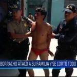 Chiclayo: Borracho ataco a su familia y se cortó todo el cuerpo