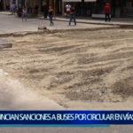 Piura: Anuncian elevadas  sanciones para  buses  por circular  en vías saturadas