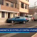 Trujillo: Camioneta se estrelló contra vivienda