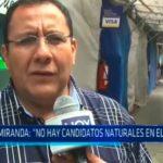 """José Miranda: """"No hay candidatos naturales en el APRA"""""""