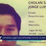 Chimbote: Capturan a sujeto que integraba lista de los más buscados
