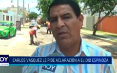 Carlos Vásquez le pide aclaración a Elidio Espinoza
